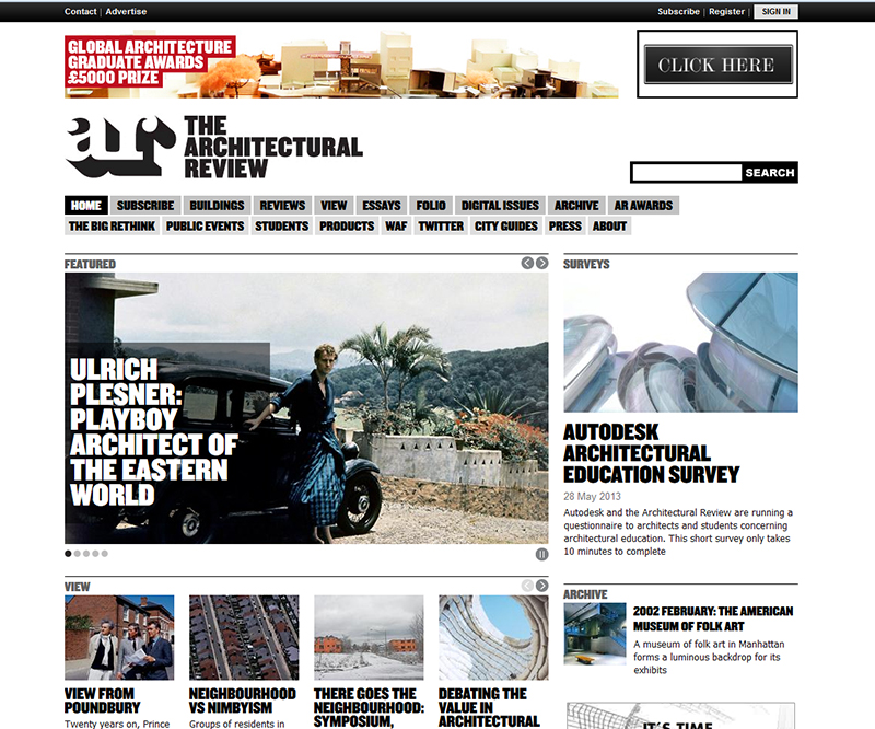 Revista inglesa Architectural Review
